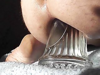 My asshole spread by a big bottle to a giant gape 2012