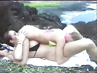 Hot Lesbian Sex by the Ocean