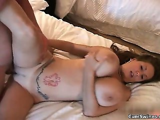 Busty brunette whore goes crazy getting part3