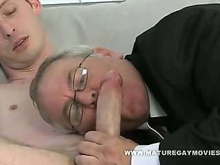 Chubby Daddy Gets His Ass Fucked By Skinny Lover