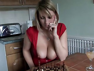Downblouse Playing Chess 2