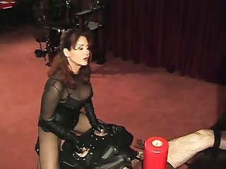 Facesitting session with cock milking