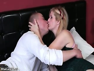 Horny mature blonde woman goes crazy part5