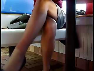 undertable upskirt