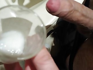 Shot of healthy and white milk unloaded by my dick