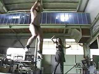 Female soldier gives brutal whiping