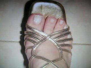 delicious feet and sandals of my wife