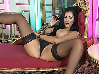 yasmine james lingerie and heels