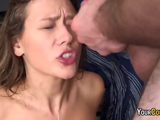 Tag Teamed College Slut Gets Facial Cumshot