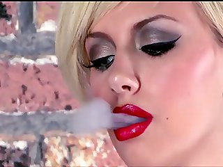 Tattooed Teen Smoking Masturbates