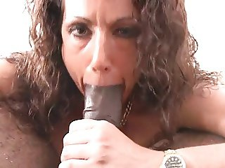 White Woman Talks Dirty, Sucks and Fucks Black Cock