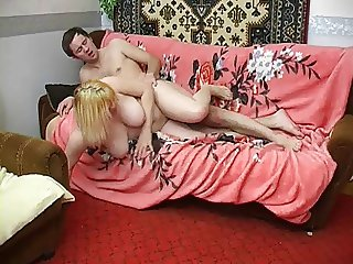 Blonde Russian MILF banged hard