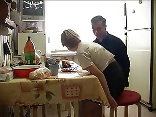 tiny blond with old man