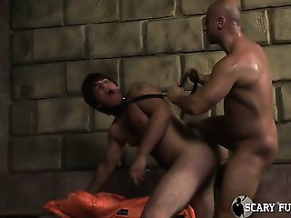 young man slut sucks off 2 guys then gets ass fucked by one