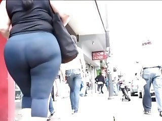 Candid Big Asses Selection - slow motion