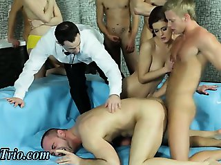 Bi group orgy in wrestling ring