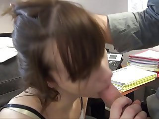 Cute French fucked in the office