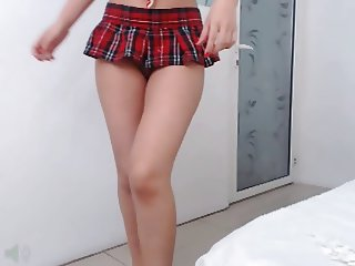 Naughty latin school girl on webcam