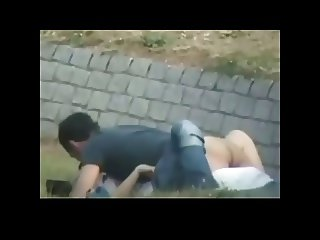 Couple Caught Fucking in Public Park BVR