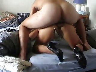 Wife  In Heels Gets Anal Fucked