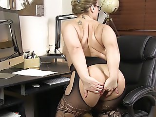 BBW in Black Stockings 2