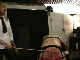 Mistress caning sissy