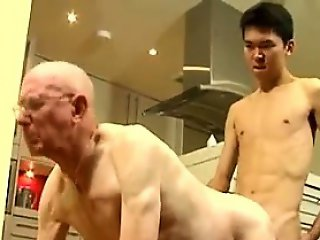 Asian Boy Fucking Grandpa