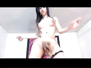 Hot shemale dancing and teasing