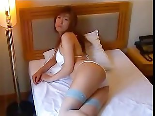 Sexy Asian on bed