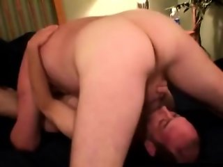 Amateur straight bears blow and anal sex