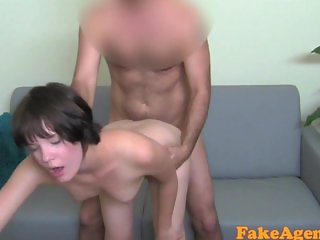 FakeAgent Cute girl takes first time facial