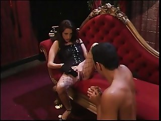 Male BDSM slave humiliated by his mistress