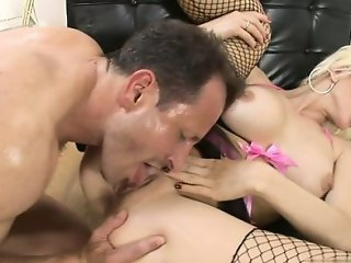 Horny daughter titfuck cum
