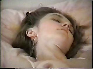 Brunette fucks her pussy with big vibrator