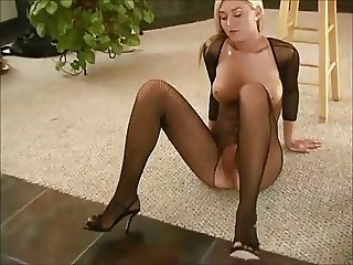 Alison - in Fishnet & High Heels Play her Self