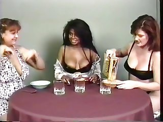 Gorgeous big tit lactating lesbians squeeze out lots of milk from their nips