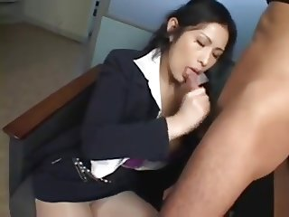 Asian Secretary Rides Her Bosses-by PACKMANS