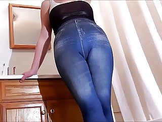 spandex angel in legging jeans