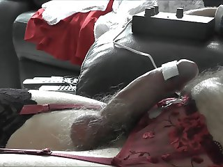 Cumming Hands Free with Electro Stim Watching a Porno Vid