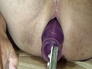 Fuck Machine Plug inside incredile wet ass! Please Comment
