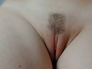 girl shows off her pussy up close
