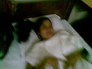 Newly Married Couple On Hotel Bed 2