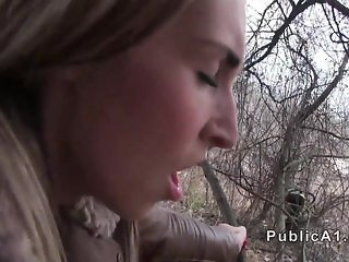 Czech blonde banged under highway pov