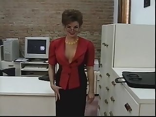 Insatibale office chick strips and gets kinky toy fucked