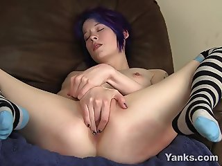 Small Titted Lila Masturbating