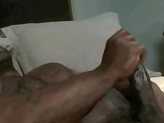 Big Black Sexy Daddy Wanking