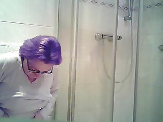 My wife on the toilet