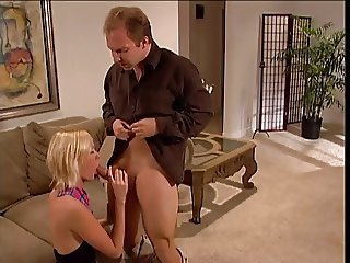 Blond randy ho fucking a big cock