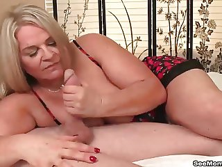 Busty milf loves young cocks