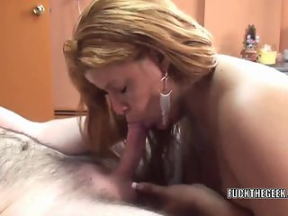 Angel Lynn takes all the cum in her mouth